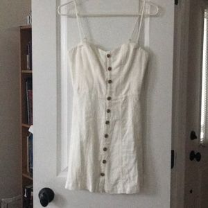 UO White Button Front Dress